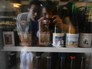 Discovering a treasure trove of Cantillon bottles in Barcelona. Check out Seth's face!
