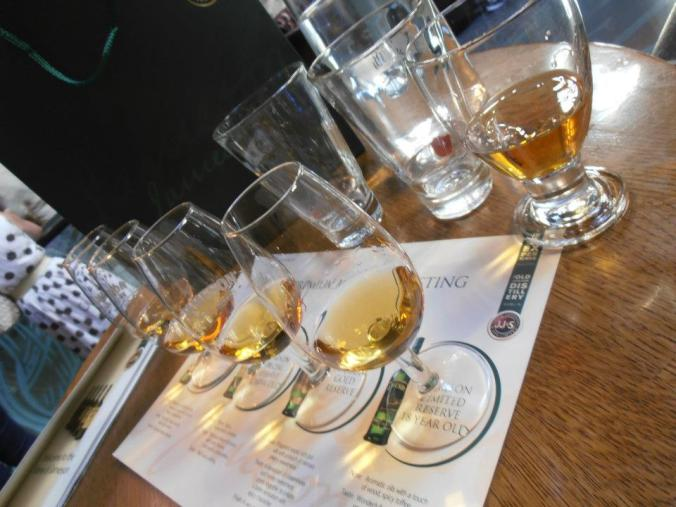 At the Jameson Distillery you can get a flight of their different whiskeys. I had no idea at the time they had such variety!