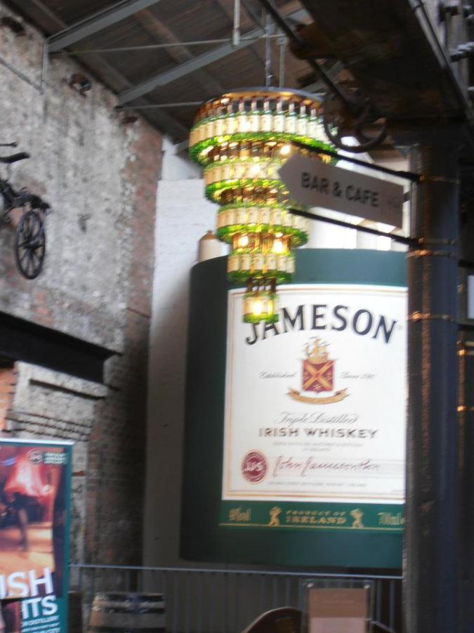 James bottle chandelier