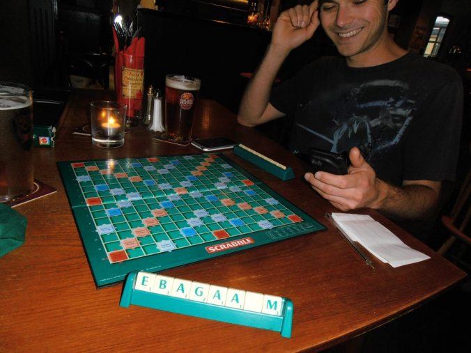 They also had free Scrabble!!